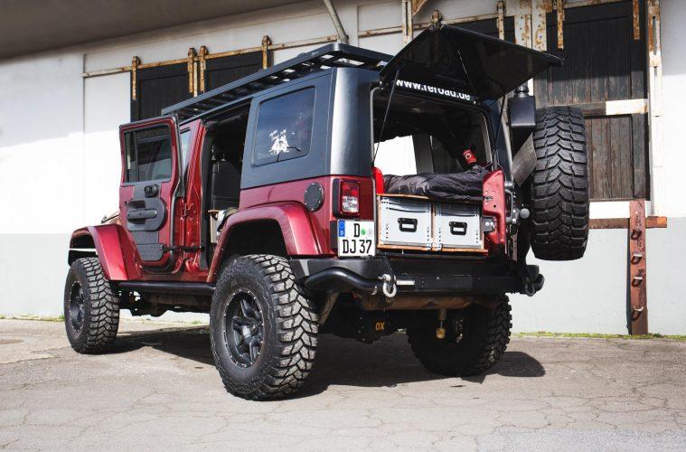 Jeep Wrangler Innenausbau von Red Rock Adventures