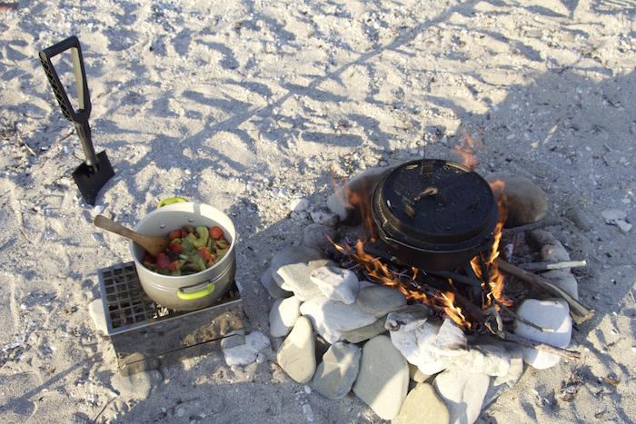 Kochen am Strand, Albanien