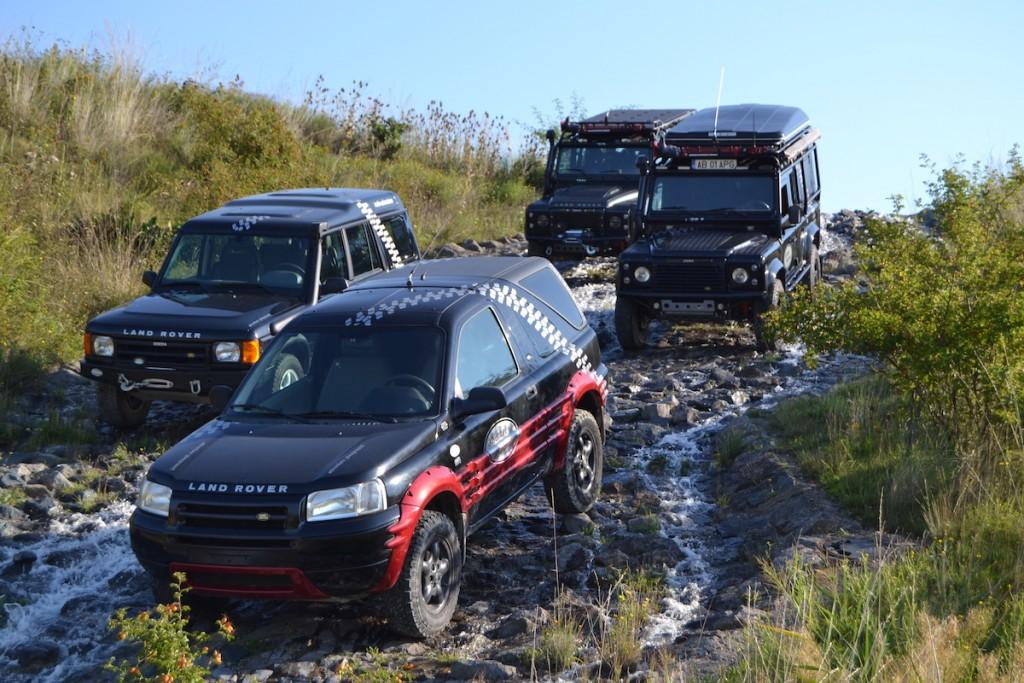 Diese Land Rover können auf dem Gelände des ADAC gemietet werden