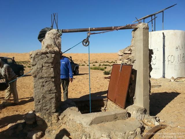 Trinkwasserbrunnen in der Sahara