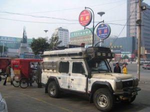 Parkplatz mitten in Nanjing, China