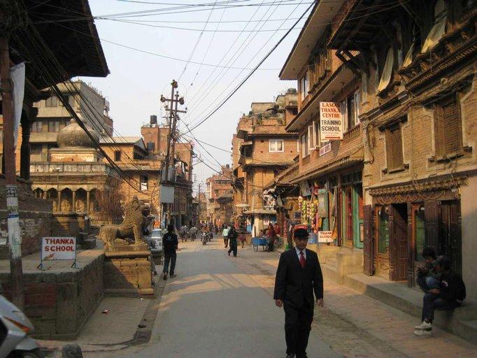 Eine Straße in Nepal