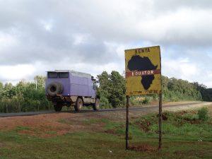 Pistenkuh in Kenia