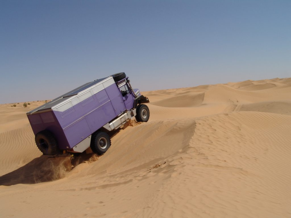 Pistenkuh in der Sahara