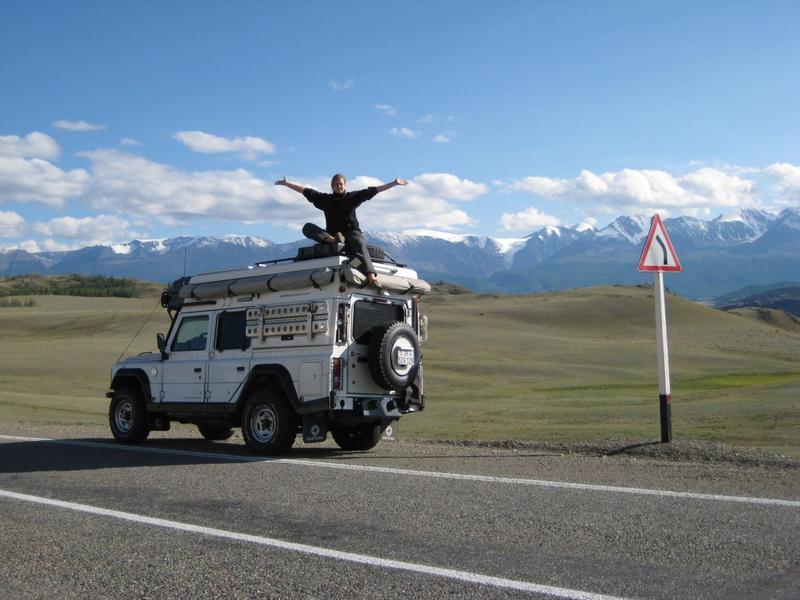 Auf dem Weg ins Altai-Gebirge, Russland