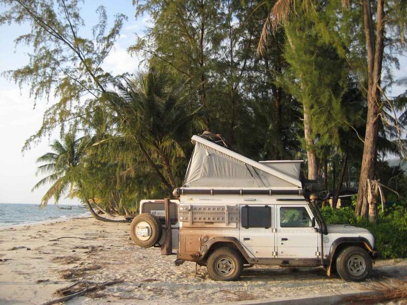 Traumhafter Übernachtungsplatz in Thailand am Strand