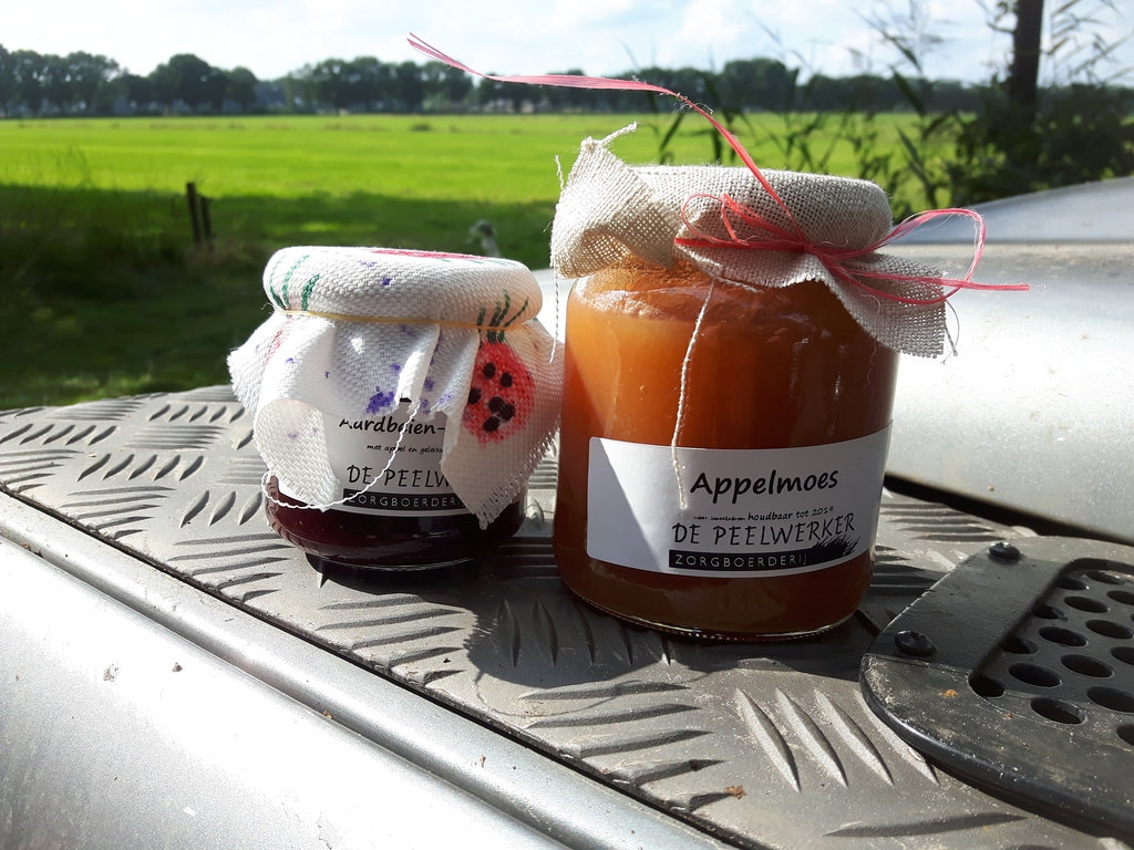 Vom Bauernhof, Marmelade und Apfelmus.