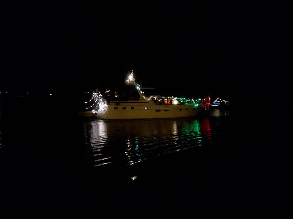 Lichterfestival auf der Maas.