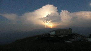 Gewitter am Monte Lisser, Ostalpen