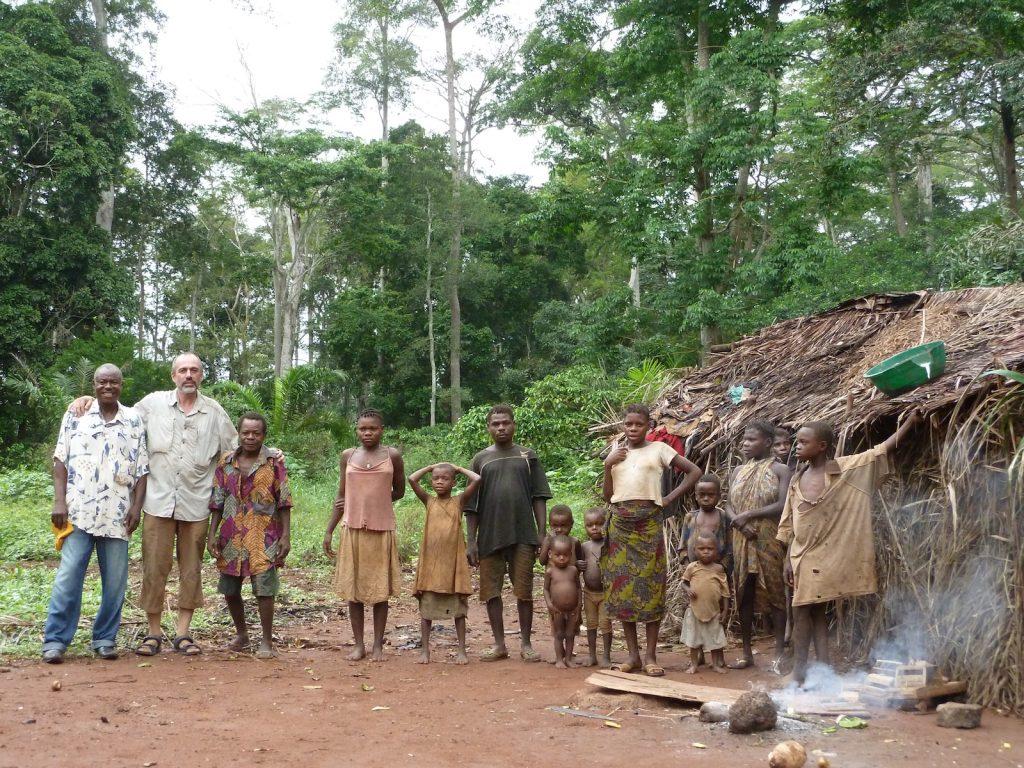 Pygmaeenstamm in der zentralafrikanischen Republik