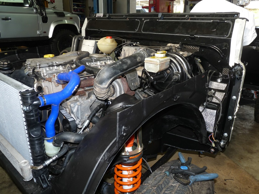 Überarbeiteter Td5 Motor.