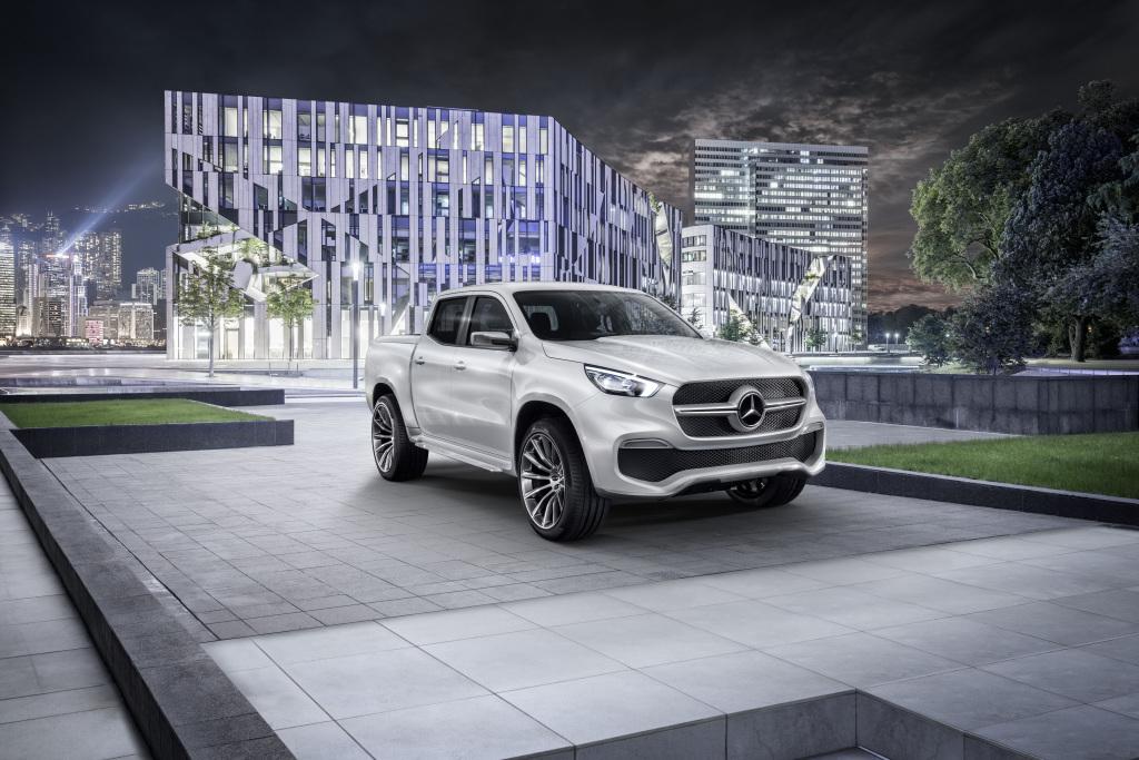 Mercedes-Benz Concept X-CLASS stylish explorer – Exterieur, Weißmetallic