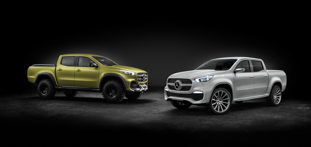 Mercedes-Benz Concept X-CLASS stylish explorer (rechts) und Mercedes-Benz Concept X-CLASS powerful adventurer (links)