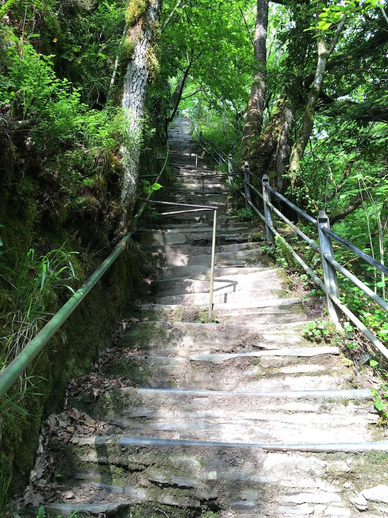 Wales - Die Jacobs Ladder unterhalb der Devils Bridge.