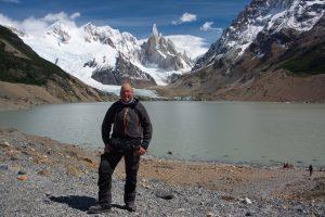 Patagonien, vor dem Cerro Torre, Interview Christian Weinberger