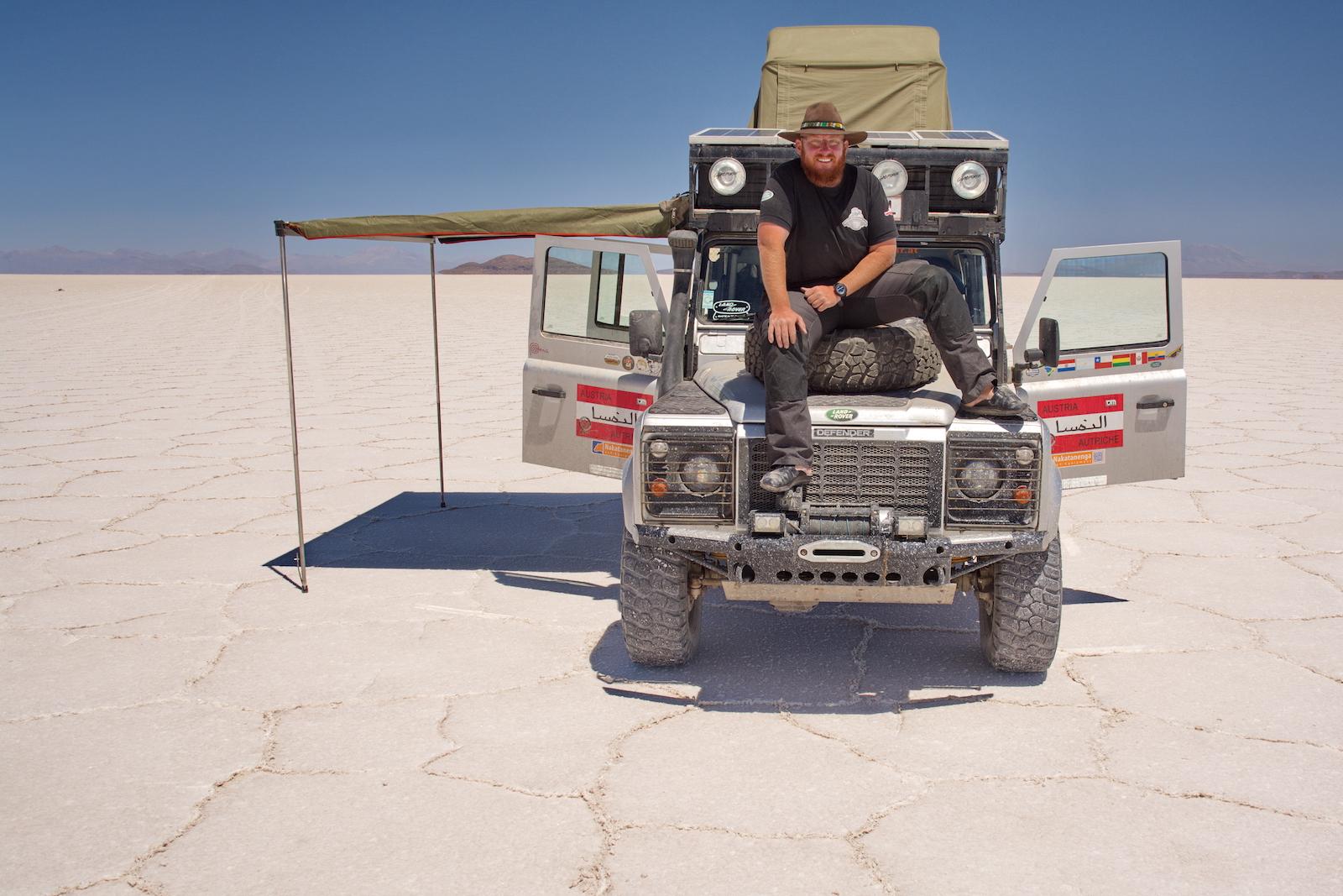 Salar de Uyuni, Bolivien, größter Salzsee der Welt, Interview Christian Weinberger