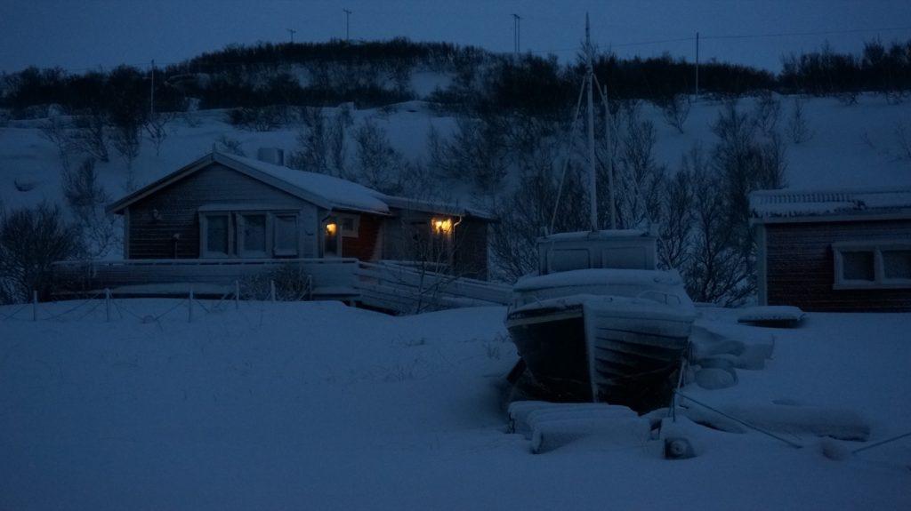 Fischerhaus bei Lakselv Nordkap