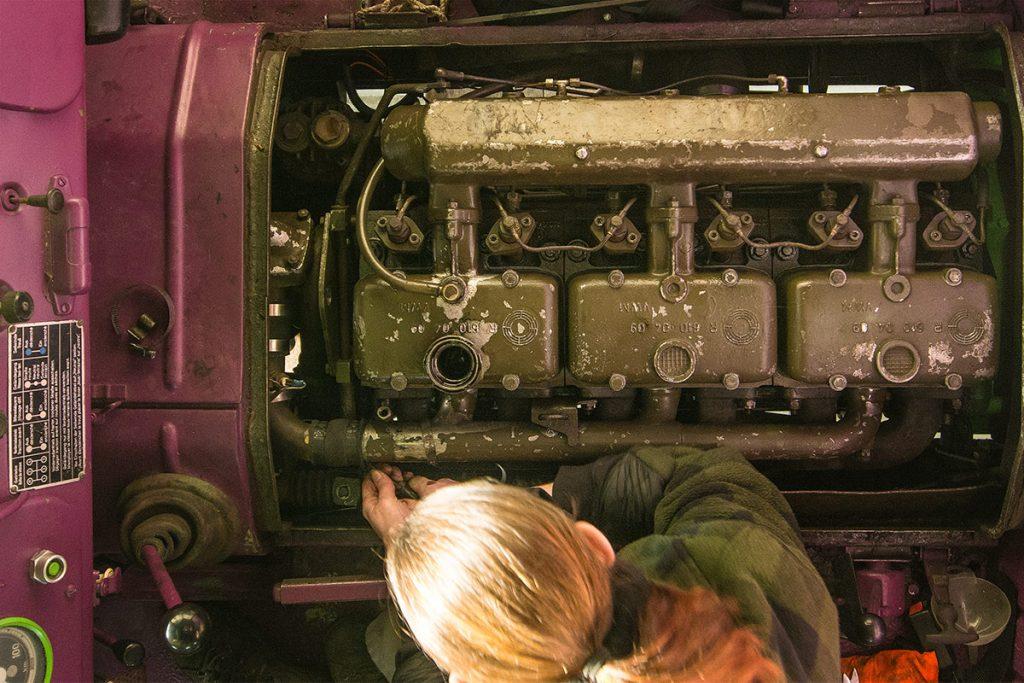 Dieselmotor auf Fernreisen - Motor Revision Steyr 680
