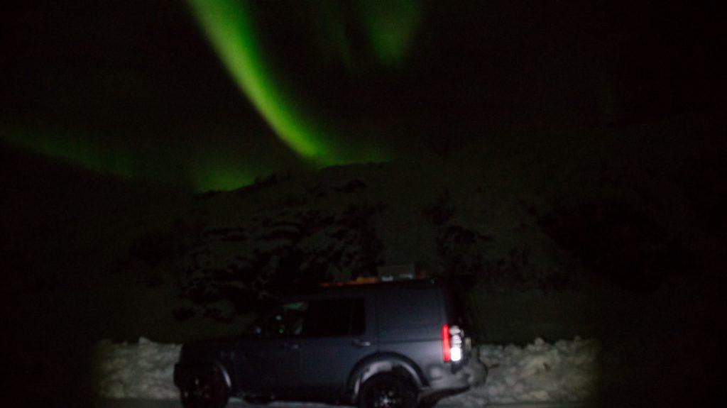 Polarlichter am Nordkap an Silvester