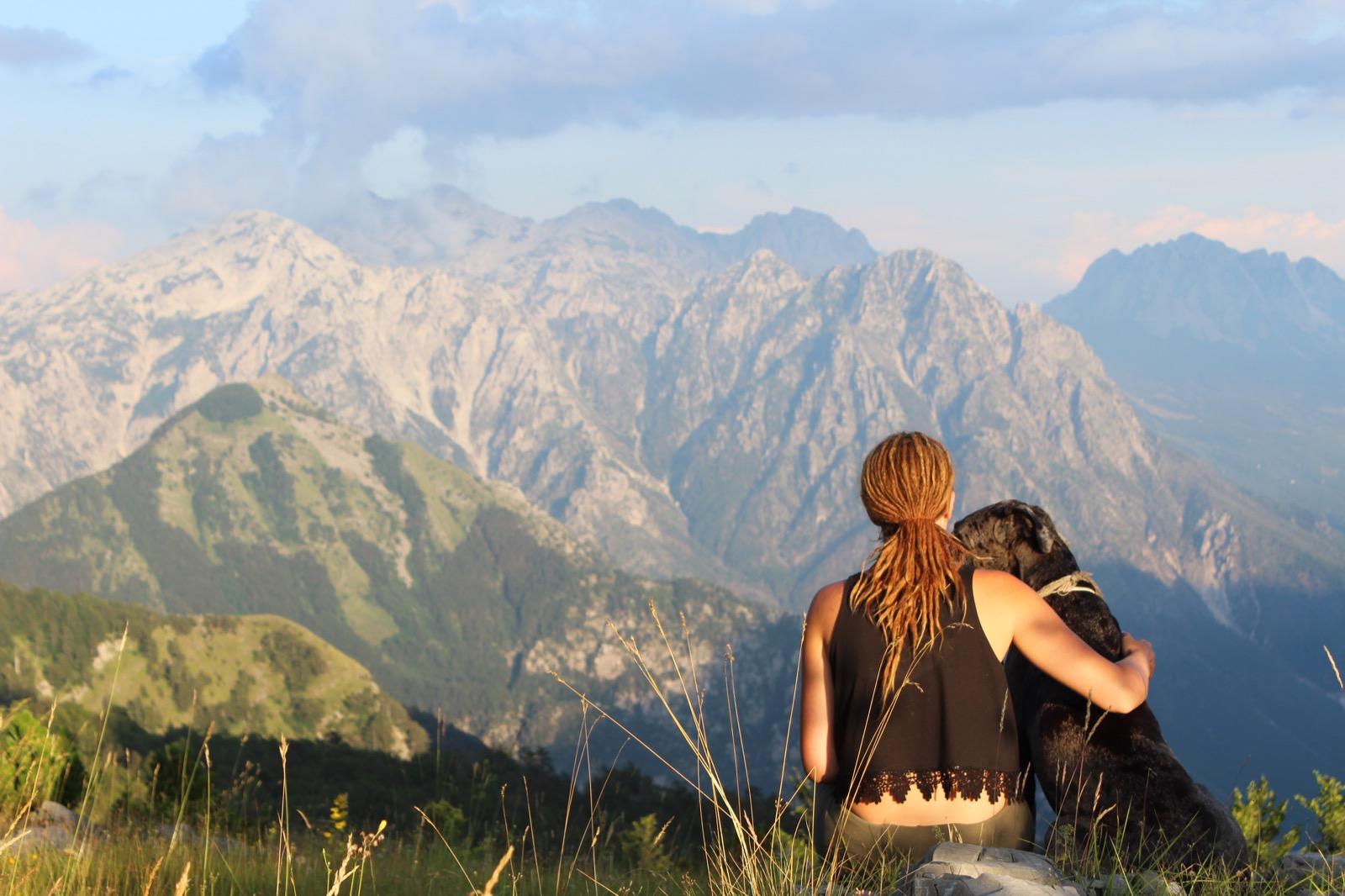 Einsamkeit in den Bergen Albaniens