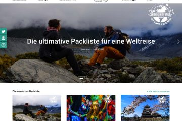 Screenshoot von Travellers Insight