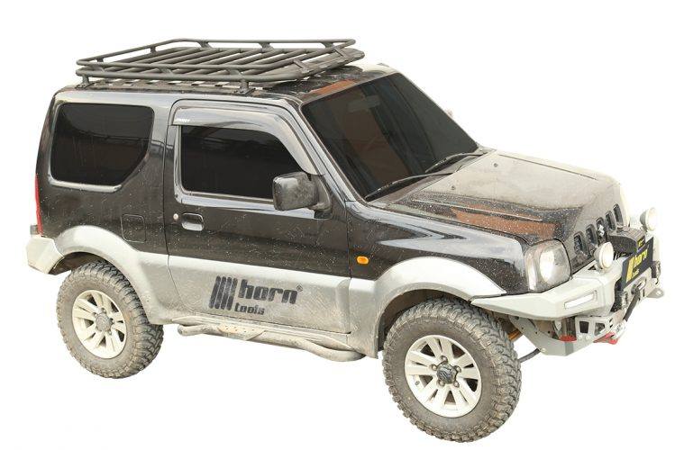 neuer horntools dachtr ger f r den suzuki jimny matsch piste. Black Bedroom Furniture Sets. Home Design Ideas