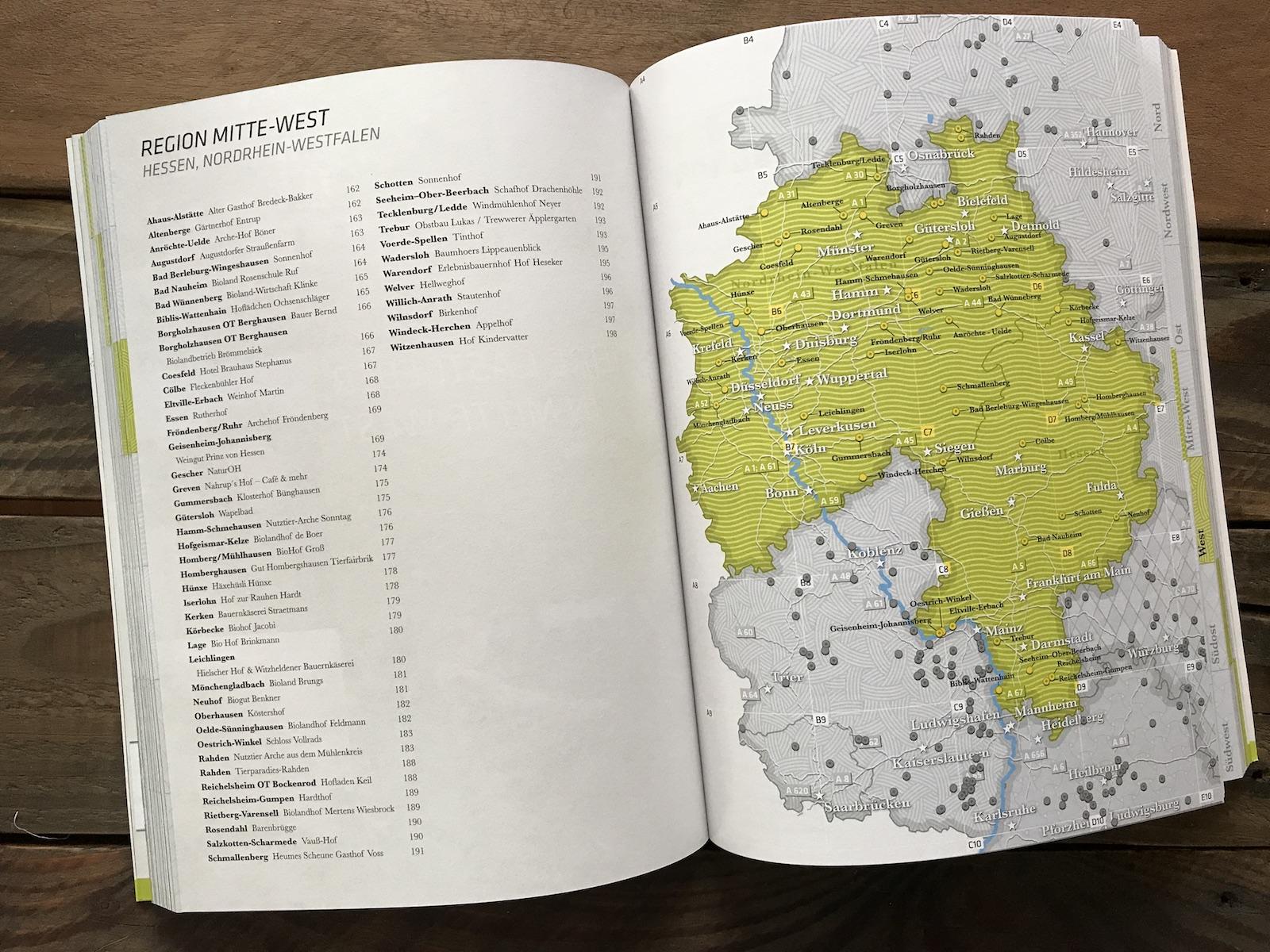 Die einzelnen Regionen im Landvergnügen Stellplatzführer