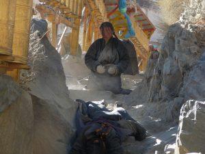 Pilger in Tibet