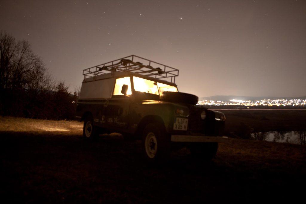 Innenausbau einer Land Rover Serie