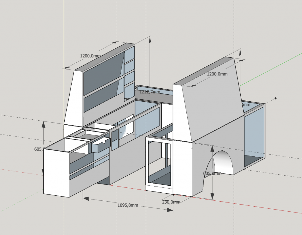 Offgemöbelt Innenausbau eines T5 Rockton - Planungsphase
