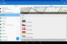 Locus Map Pro 3.25 - Sprachauswahl für LoMaps-Karten.