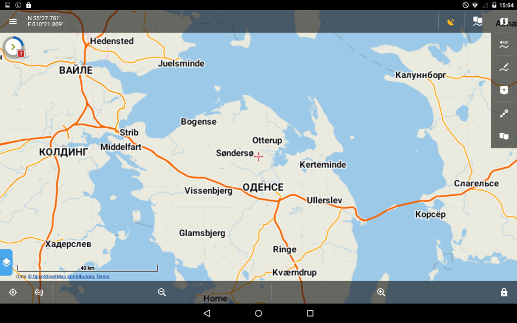 Locus Map Pro 3.25 - LoMap in Russisch.