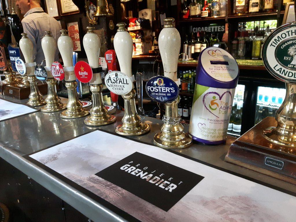 """Im Pub """"The Grenadier"""" wurde die Idee zum Projekt Grenadier geboren."""