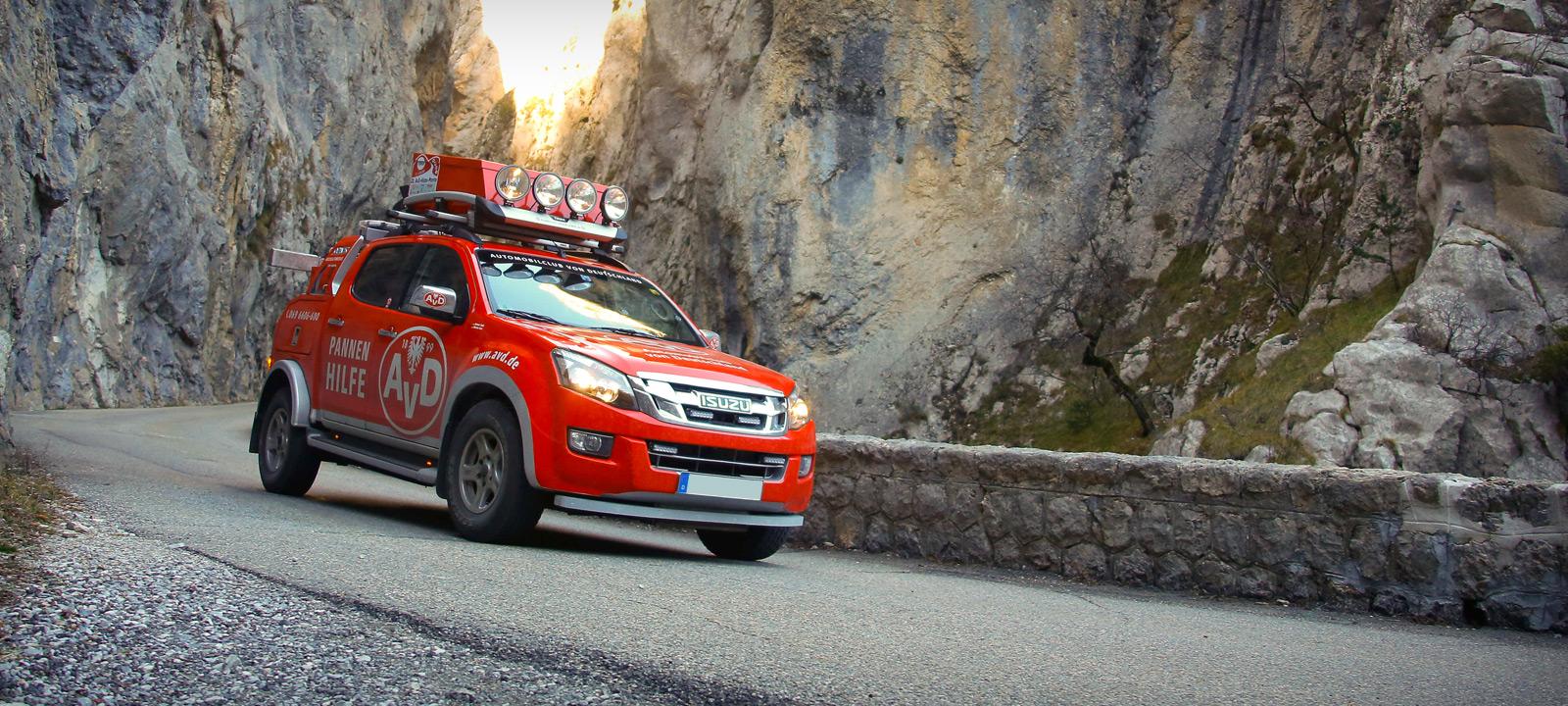 AvD Hilfsfahrzeuge - weltweit im Einsatz für Mitglieder. Fahrspaß + Sicherheit: AvD Automobilclub von Deutschland