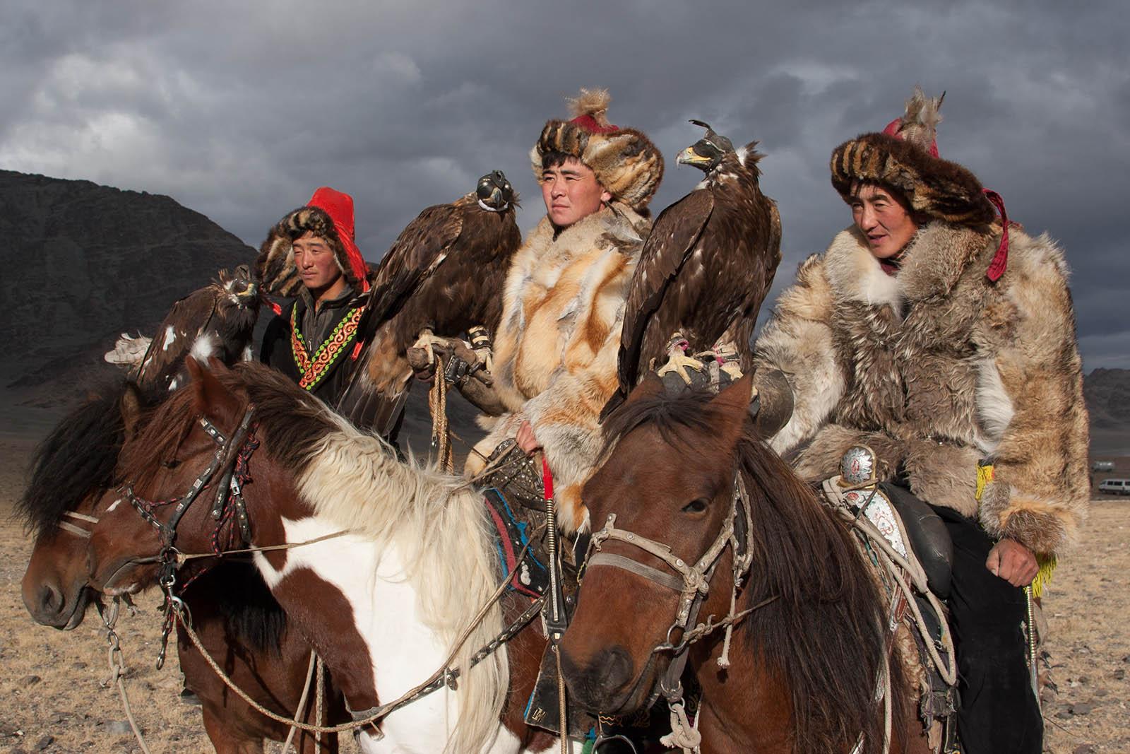 Auf dem Adlerfest im Altai-Gebirge