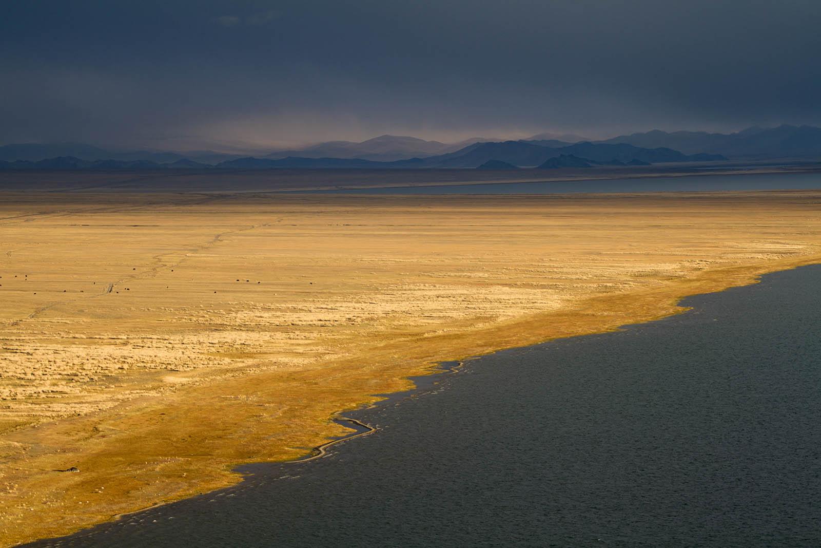 Blick auf das Altai-Gebirge Mongolei