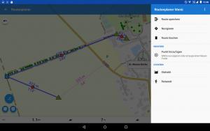 Locus Map Pro - Version 3.26.2 - Auch eigene Punkte aus der Wegpunkt-Datenbank können hinzugefügt werden.