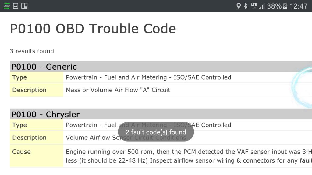 OBD-Diagnose - Stecker und App - Hilfe zu den Fehlercodes aus dem Internet.
