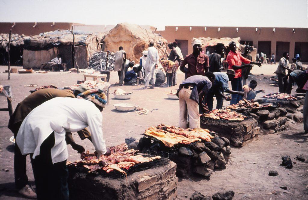 Grillplatz in Agadez, Niger.