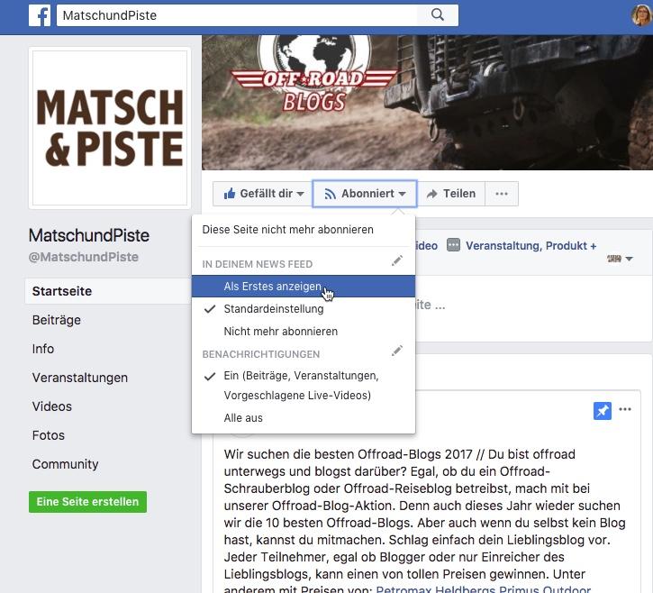 Matsch&Piste auf Facebook abonnieren