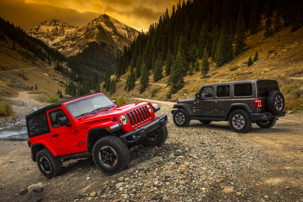 Jeep Wrangler Rubicon und Sahara.