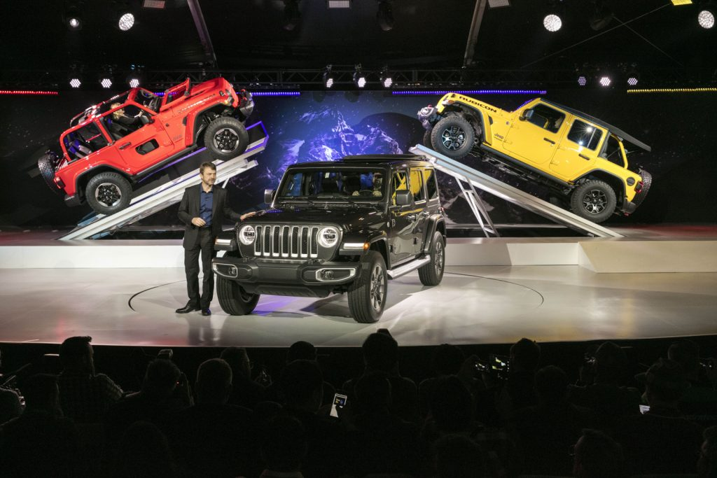 Livestream von der L.A. Motor Show. Vorstellung des Jeep Wrangler 2018.