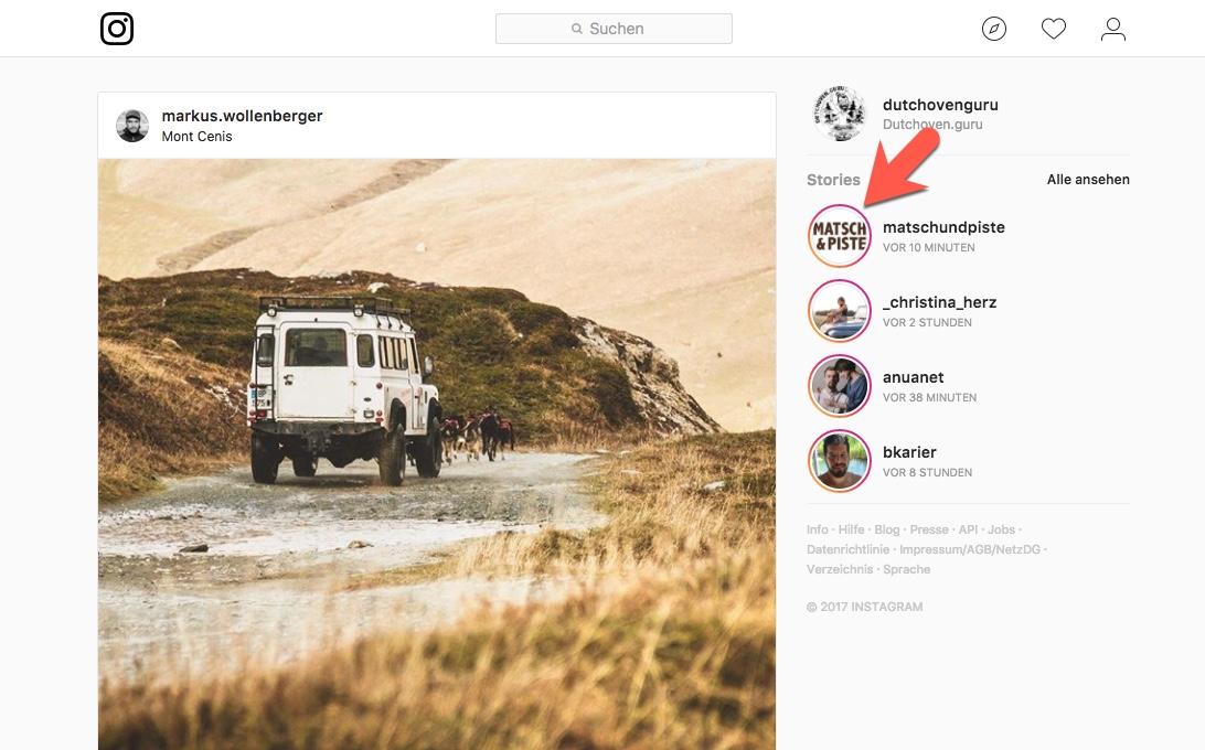 Matsch&Piste Instagram-Stories ansehen