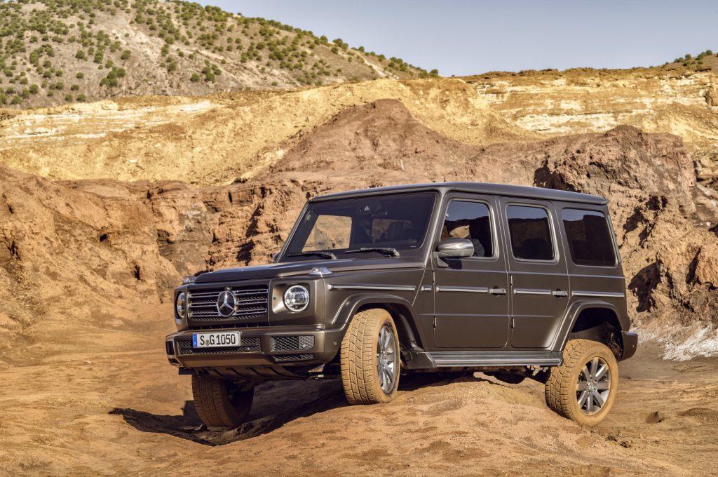 Die neue Mercedes-Benz G-Klasse von 2018. - Und wenn das nicht mehr reicht, geht es mit den drei serienmäßigen 100-Prozent-Sperren weiter.