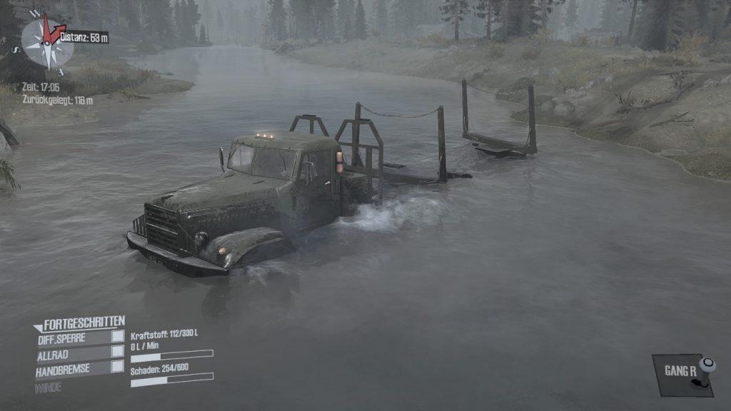 Spintires MudRunner - Hier ist das Wasser ruhiger.