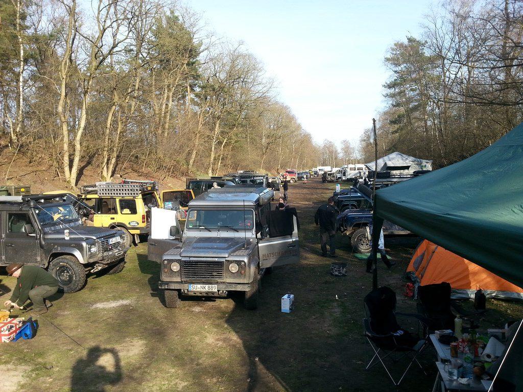 Fürsten Forest - Einer der Campingbereiche, eine alte Schießbahn.
