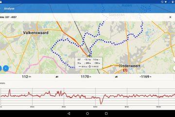 Locus Map Pro Track Analyse - Die ersten Daten werden schon bei der Auswahl angezeigt.
