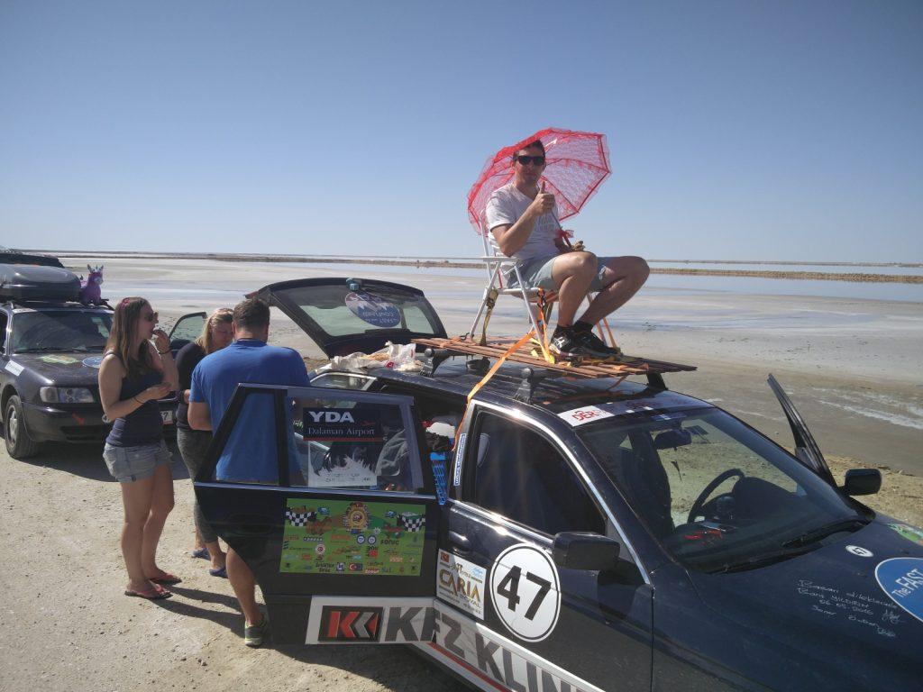 Europa-Orient-Rallye - Eine kurze Pause bei Höhenluft.