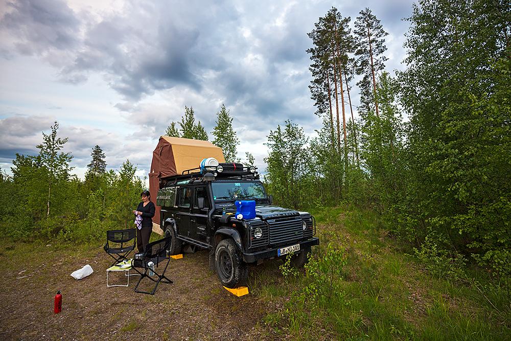 Nordwärts – 12.000 Kilometer durch Karelien, Finnland und Russland. - Die Auswahl an schönen und einsamen Lagerplätzen ist riesig.