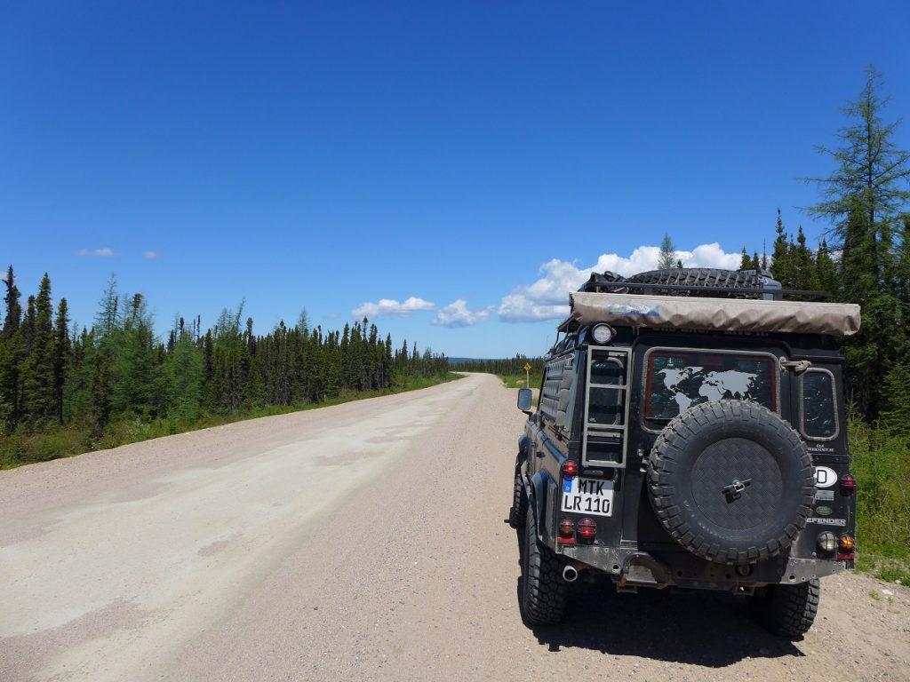 """Unterwegs auf dem """"Trans-Labrador-Highway""""."""